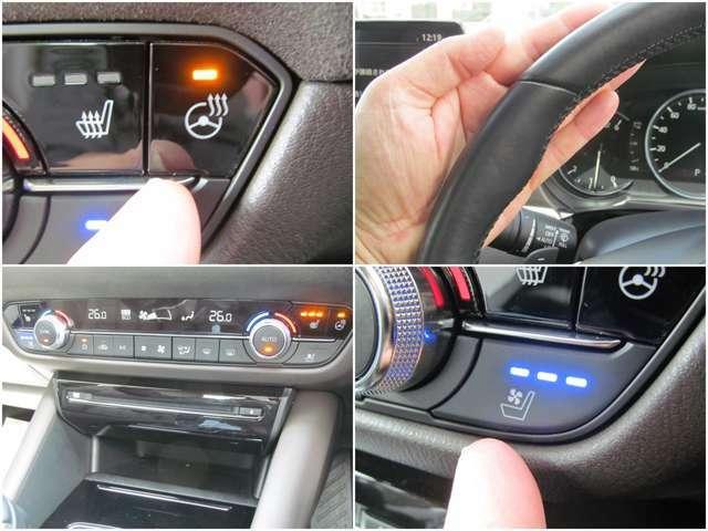 運転席、助手席にシートヒーターやベンチレーション機能搭載!ステアリングヒーターも装備!