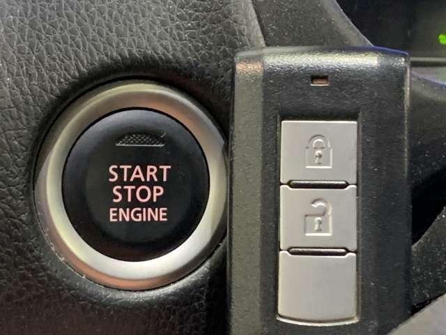 15【 スマートキー&プッシュスタート 】鍵を挿さずにポケットに入れたまま鍵の開閉、エンジンの始動まで行えます。