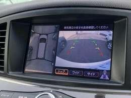 アラウンドビューモニター装備。きれいな駐車をサポートいたします。
