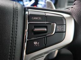 高速道路で便利な【レーダークルーズコントロール】も装着済み。アクセルを離しても前方の車に合わせて走行ができる装備です。加速減速もスイッチ操作でOKです。