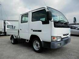 H18 ニッサン アトラス Wキャブ AT ガソリン車 積載1250kg 走行66000km ボディ内寸長さ2100 幅1620 高さ380