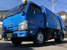 いすゞ エルフ 2.95t積プレス式パッカー車ディーゼルMT モリタ製5.3立米汚水タンク付き