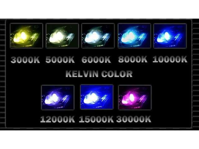 Bプラン画像:6000ケルビン(車検対応)で夜道も明るく安全に走行できます。ケルビン数変更は別途費用が掛かります。(車検非対応)