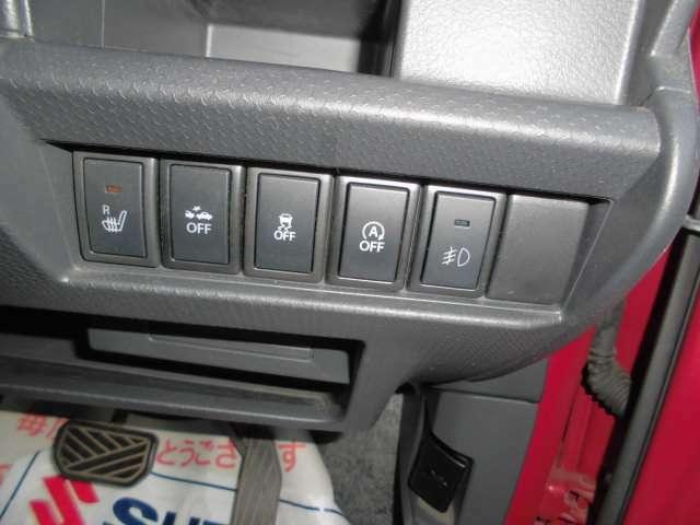 シートヒーターなどのスイッチ類です