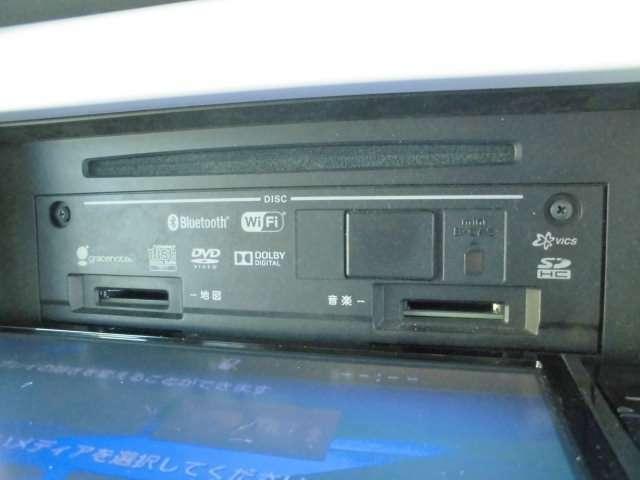 フルセグTV付きナビはDVD再生も可能です。録音もブルートゥースも対応します