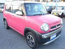ピンクとホワイトのツートンカラーでとても可愛いハスラーです!塗装面の色褪せなどもございません。