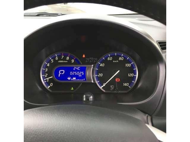 シンプルで見やすいメーターがついておりますので安心です♪安全はとっても大事ですね!!運転にはくれぐれもご注意を!!