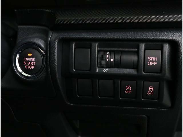 SRH(スバルレスポンシブヘッドランプ)搭載!ハンドルに合わせてヘッドライトが左右に動くので峠道や曲がり角などカーブの先をヘッドライトの明かりが照らしてくれる嬉しい機能です!夜の峠道が楽しくなります♪