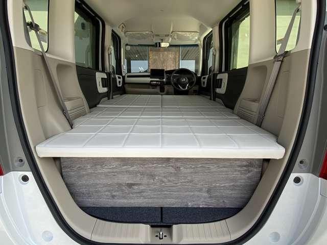 NBOXの広い車内を無駄なく広々♪快適空間の完成です♪