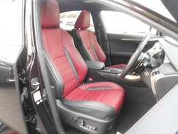 フロントシートは、両席ともに、本革電動シートを採用し、快適な座り心地です。シートには、ヒーターとクーラー機能が付いています。