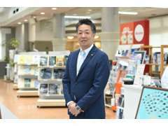 店長利根川 明るく笑顔あふれるお店づくりを目指しております。