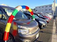 新車もU-Carも扱っておりますのでとても広い敷地(1300坪以上)です!お客様の駐車場も10台以上完備☆
