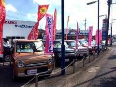 【展示場】約40台の車を展示しています!ゆっくりご覧ください♪