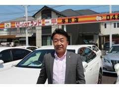 店長の藤村です。 埼玉トヨペットだから出来る品質・在庫数に自信があります!クラウンのご購入は当店にお任せください!