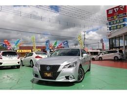 トヨタ クラウンアスリート ハイブリッド 2.5 S 運転支援 黒本革 純正HDDナビ地デジBモ