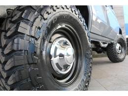新品輸出ホイールに新品オープンカントリーMTタイヤの組み合わせ!
