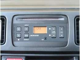 【オーディオ】純正CDチューナーが付いています。AUX端子にて外部機器接続も可能です。