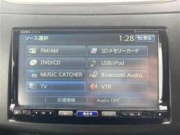【社外ナビ(NX613)】CD/DVD/Bluetooth/SD/iPod/音楽録音機能/フルセグTV