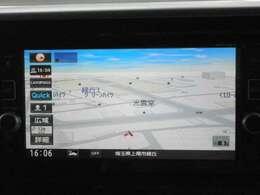 純正メモリーナビ(MM316D-W)付きです。フルセグTV視聴、Bluetooth接続も可能です。