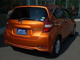 人気車ノートeパワーまたまた入荷しました・オプションカラーのきれいなプレミアムコロナオレンジ・オプション多数装着済みのお買得車です・詳細はHPをご覧下さい!