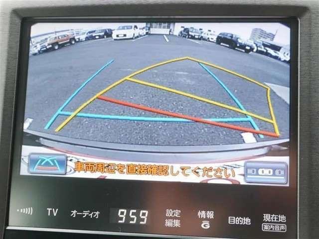 駐車時バック時の安全確認を サポート! バックガイドモニター