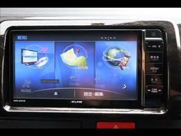 純正ナビを装備。フルセグTV、ブルートゥース接続、DVD再生可能、音楽の録音も可能です。