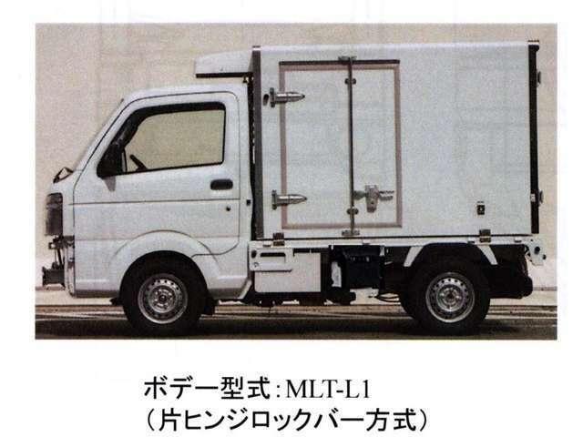 RCC追加装備:フロアマット、ドアバイザー、シガーライターボデー:東洋ブラザー工業製(型式:MLT-L1)断熱:オール100mm(ドアのみ75mm)