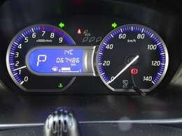 ◆ファインビジョンメーター◆視認性の高い大型メーターを採用!エコドライブインジケーター&燃費機能付き!燃費のよいアクセルペダル操作を判断して木の葉が増減します。数が多いほど良好です!