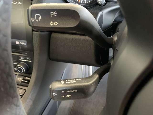 【クルーズコントロール】アクセルペダルを踏まずに安定速度で走行しくれますので、高速道路など長距離運転が快適です♪