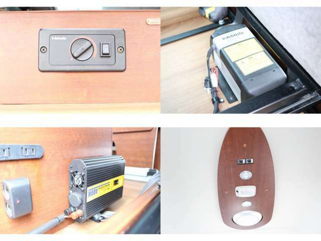 FFヒーター 高地スイッチ付き インバーター 照明