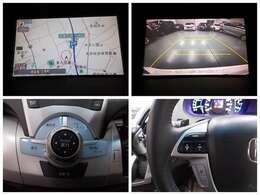 【ナビゲーション】ホンダ純正HDDナビを装備しております~!インパネ内にスッキリとビルトイン装着されておりますので、運転時に視界の妨げになる事もありませんよ♪
