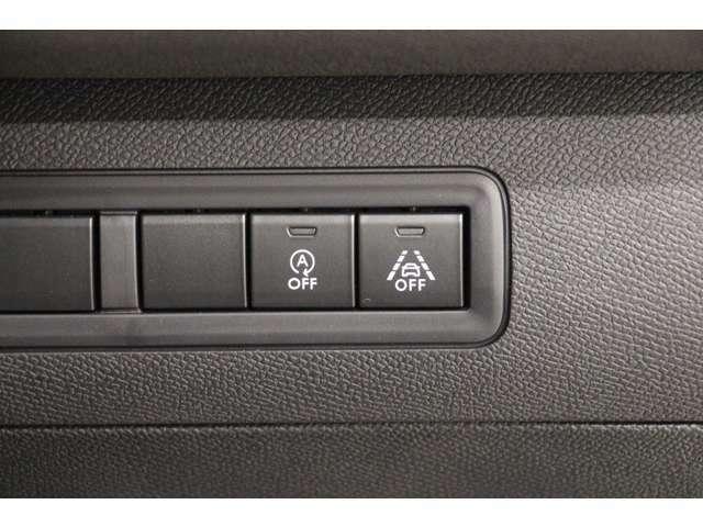 アイドリングストップ機能と車線逸脱警告機能を搭載しています。