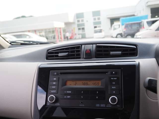 CD・ラジオ付きです!好きな音楽をかけてドライブを楽しめます!