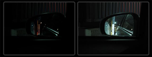 Aプラン画像:バックミラーでみてもご覧のとおり!明るさの違いは一目瞭然!