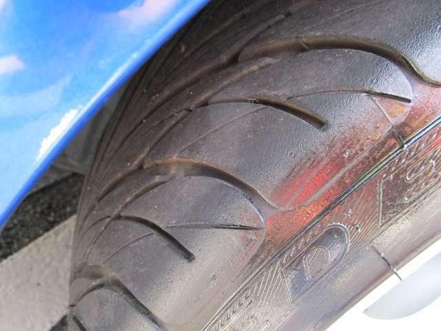 タイヤの溝も大丈夫ですよ♪
