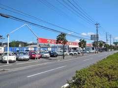 イエスオートガーデン茂原店です。国道128号線沿い、ベイシア茂原店さますぐ側です!