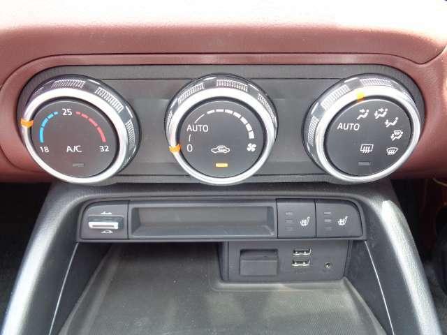 オートエアコン・プッシュスタート 左右シートヒーター付・USBジャック