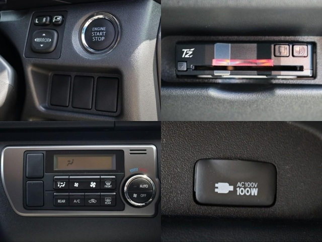 ハイウェイドライブの必需品ETCも完備!勿論、直ぐに仕様出来るようにセットアップしてからお出し致します。その他標準装備のプッシュスタート&スマートエントリーも完備しております!