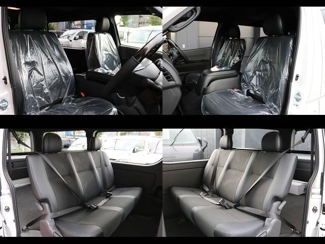 ダークプライム専用シート!!セカンドシートは3点シートベルト標準装備!!