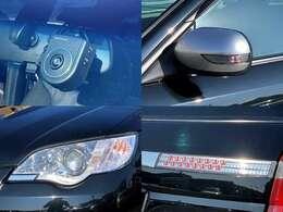 オート連動格納・シルバー塗装LEDサイドターンランプドアミラー(特別装備)!FRC製・ドライブレコーダー!