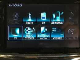 【純正メモリナビ】(CD/DVD/Radio/SD/USB/iPod/TV/MusicStocker/Bluetooth/AUX)