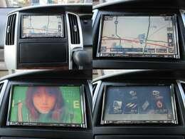 社外HDDナビが装備されております♪画面もクリアで運転中も確認しやすいです♪テレビも映るので見たい番組を見逃すこともなくなりますね♪