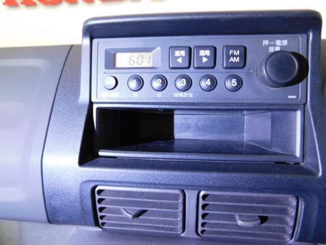 AM FMラジオを装備してます。