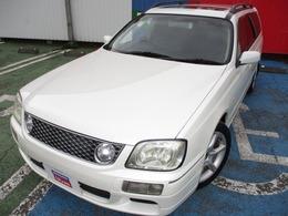 日産 ステージア 2.5 25t RS FOUR V 4WD サンルーフ 17AW 社外ナビ ETC