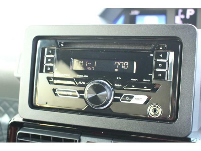 CDデッキで自分の好きな音楽を楽しんだり、ラジオを聴いたりできます!