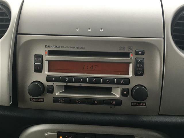 純正オーディオ CD MD AM FM ナノイーエアコン 電動格納ミラー ヘッ ドライトレベライザー オートエアコン 純正フロアマット バイザー 社外AW付きスタッドレスタイヤ
