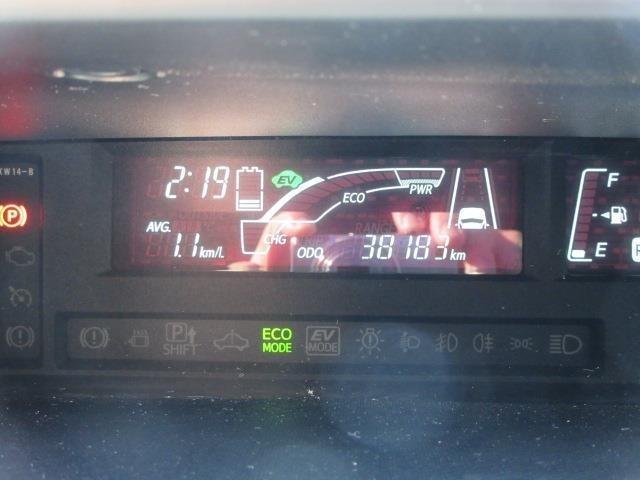 マルチインフォメーションディスプレイで運転走行状況をリアルタイムに確認出来ます