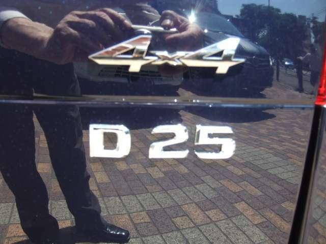 BRABUS 4x4 D25リヤエンブレム