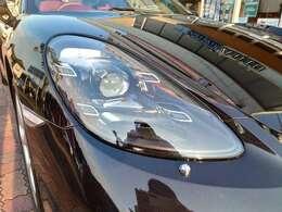 LEDヘッドライト 赤レザーS パワーシート スポーツエキゾースト ケイマンS用19アルミ GTスポーツステアリング カーボンインテリア 純正ナビBOSEサウンドシステム クレストコンソール JET黒
