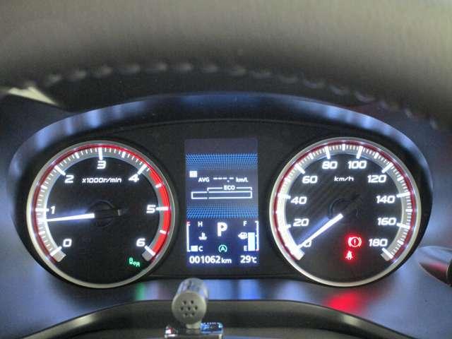 見やすいハイコントラストメーター&車両情報ディスプレイ